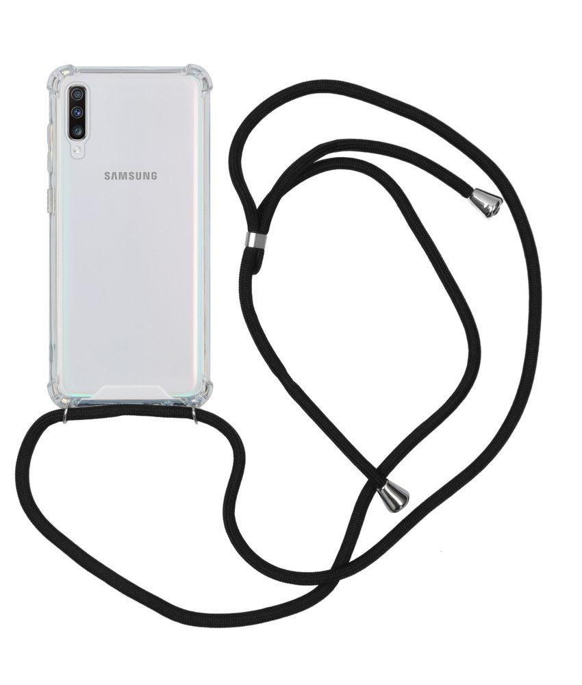Backcover met koord Samsung Galaxy A70 - Zwart