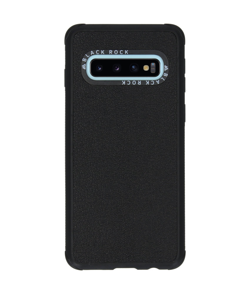 Black Rock Real Leather Backcover Samsung Galaxy S10 - Zwart
