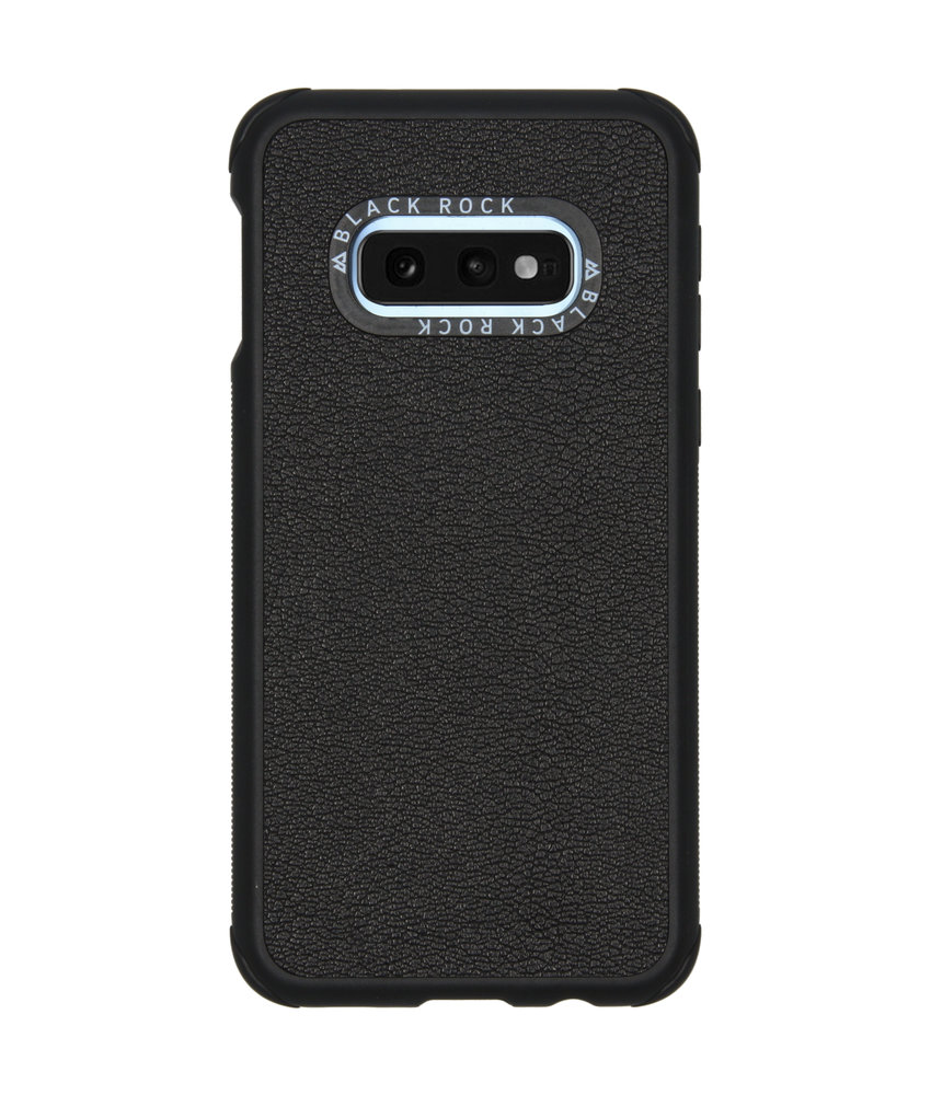 Black Rock Real Leather Backcover Samsung Galaxy S10e - Zwart