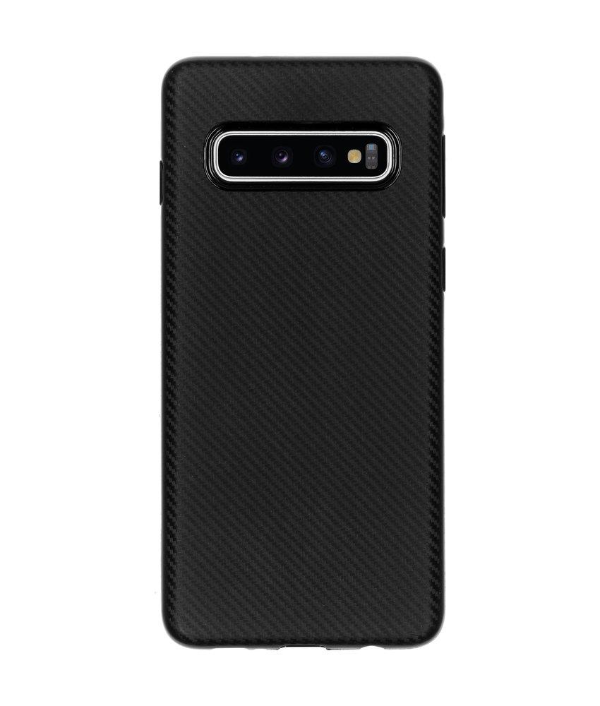 Carbon Softcase Backcover Samsung Galaxy S10