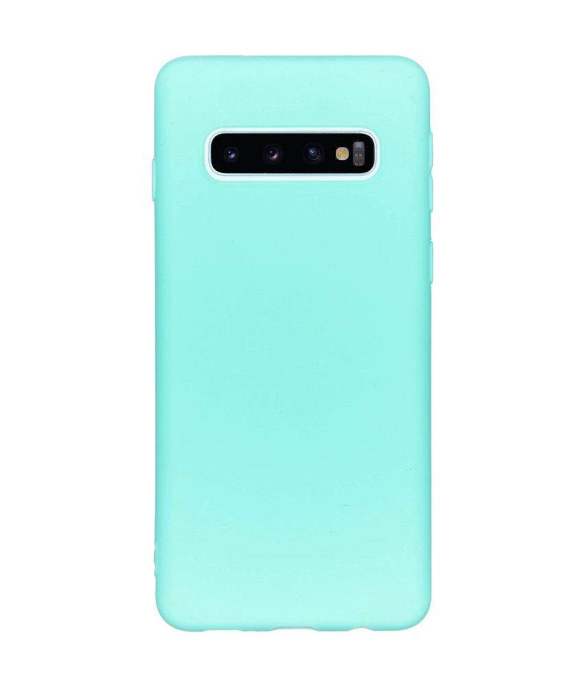 Color Backcover Samsung Galaxy S10 - Mintgroen