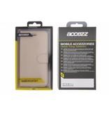 Accezz Wallet Softcase Booktype voor Huawei P8 Lite (2017) - Goud