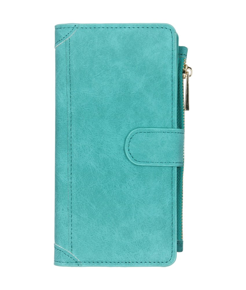 Luxe Portemonnee Samsung Galaxy A70 - Turquoise