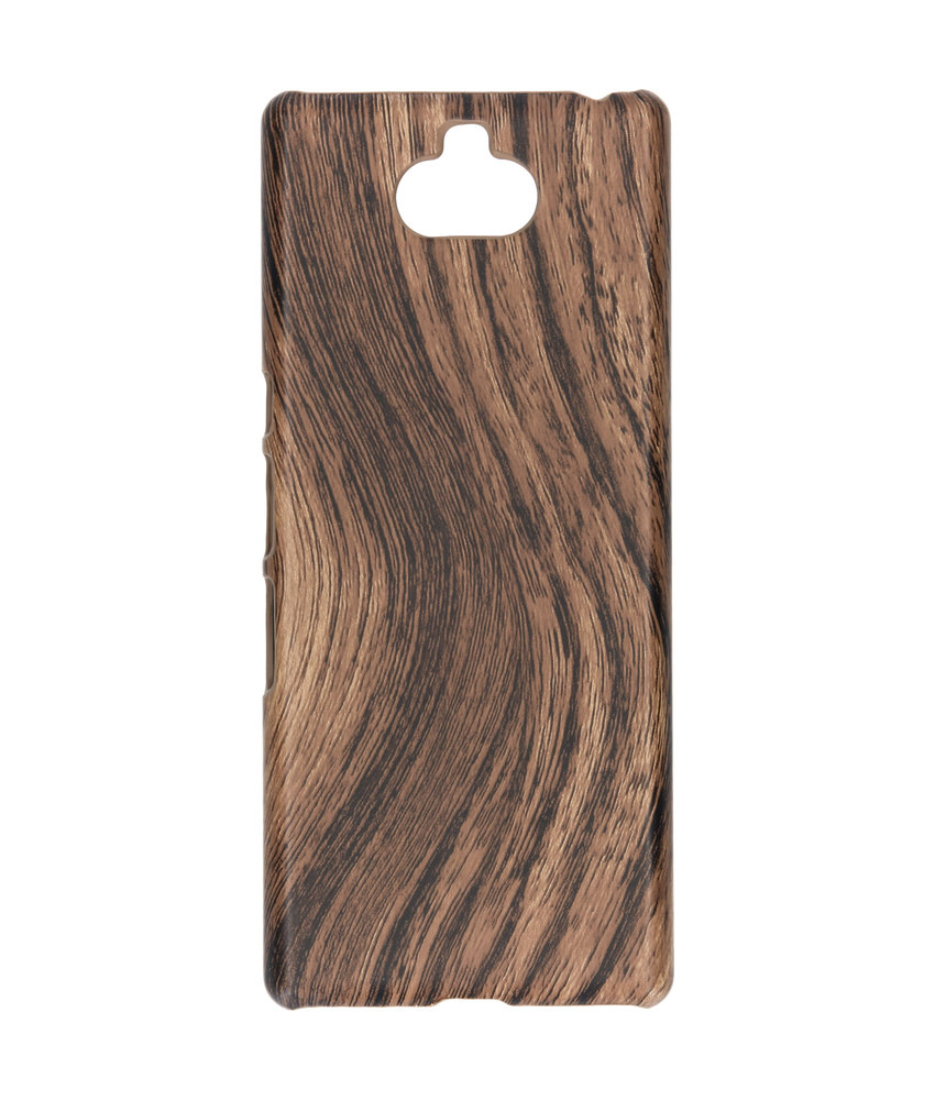 Hout Design Backcover Sony Xperia 10 Plus - Bruin