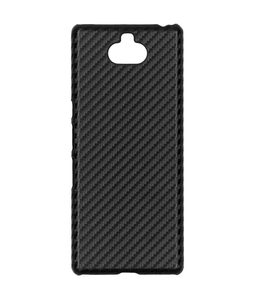 Carbon Hardcase Backcover Sony Xperia 10 Plus - Zwart