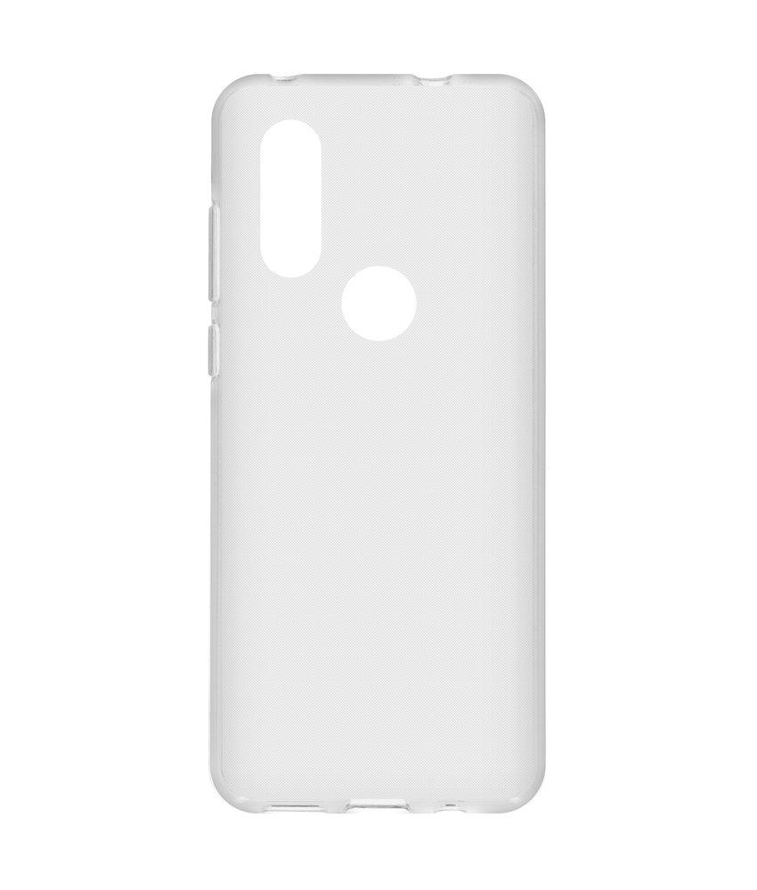 Softcase Backcover Motorola One Vision - Transparant
