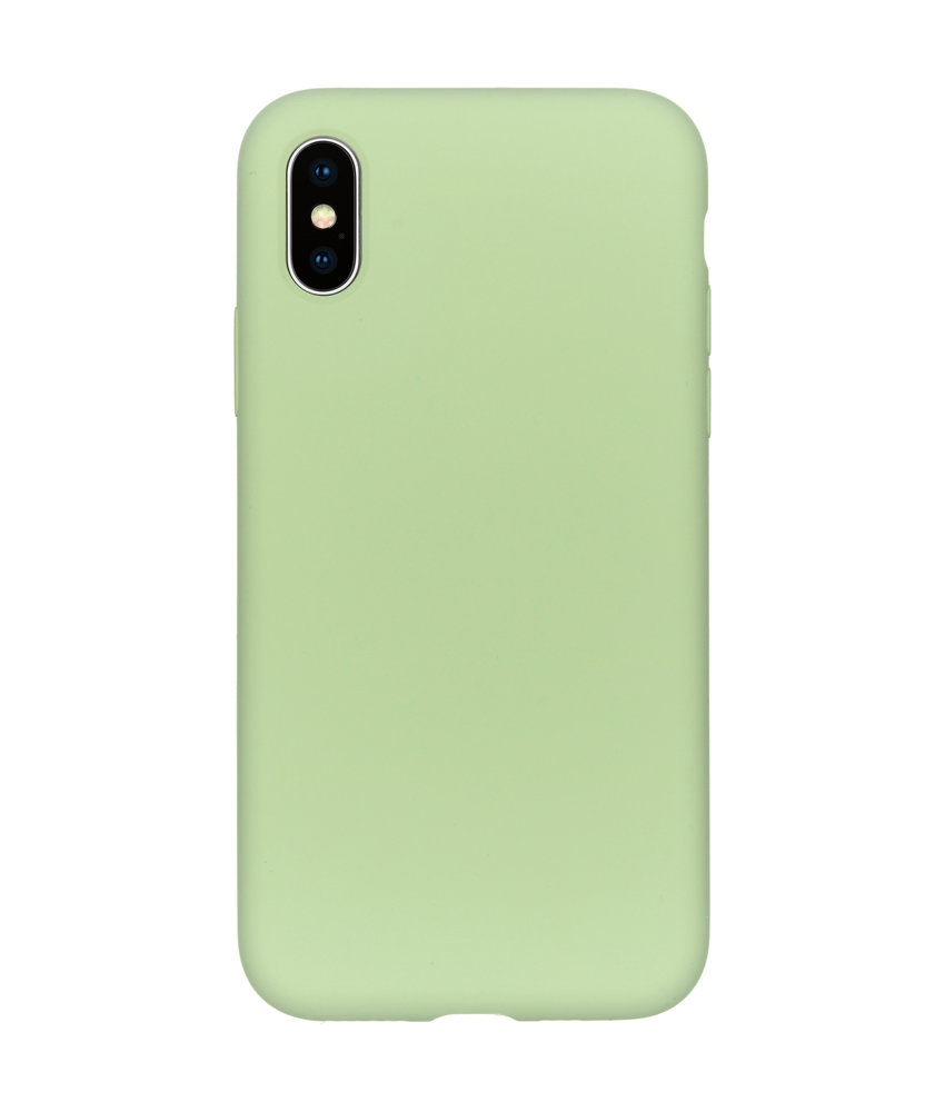 Accezz Liquid Silicone Backcover iPhone Xs / X - Groen