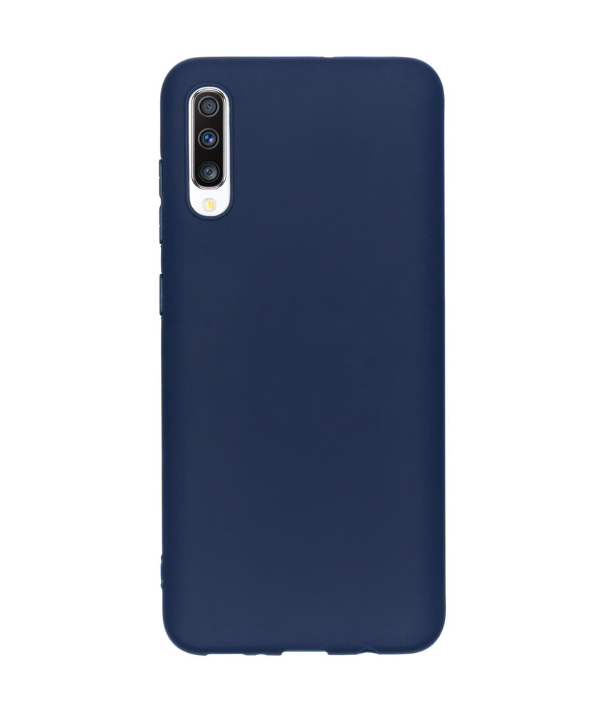 Color Backcover Samsung Galaxy A70 - Donkerblauw