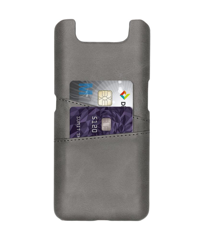 Cardholder Backcover Samsung Galaxy A80 - Grijs