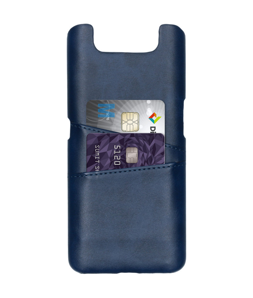 Cardholder Backcover Samsung Galaxy A80 - Donkerblauw