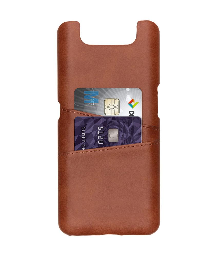 Cardholder Backcover Samsung Galaxy A80 - Bruin