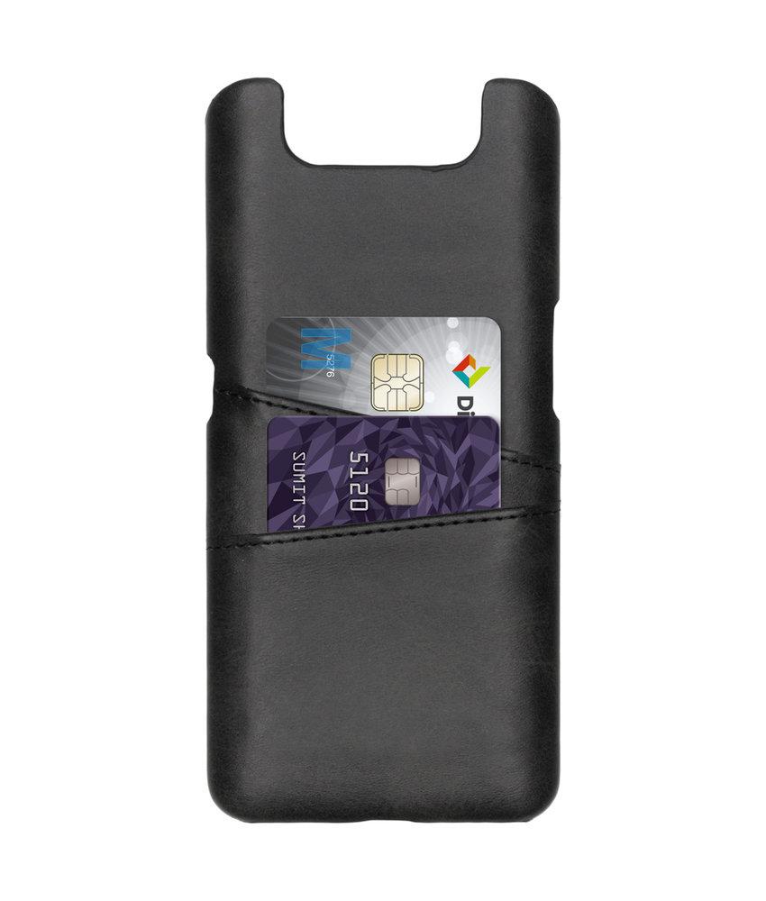 Cardholder Backcover Samsung Galaxy A80 - Zwart