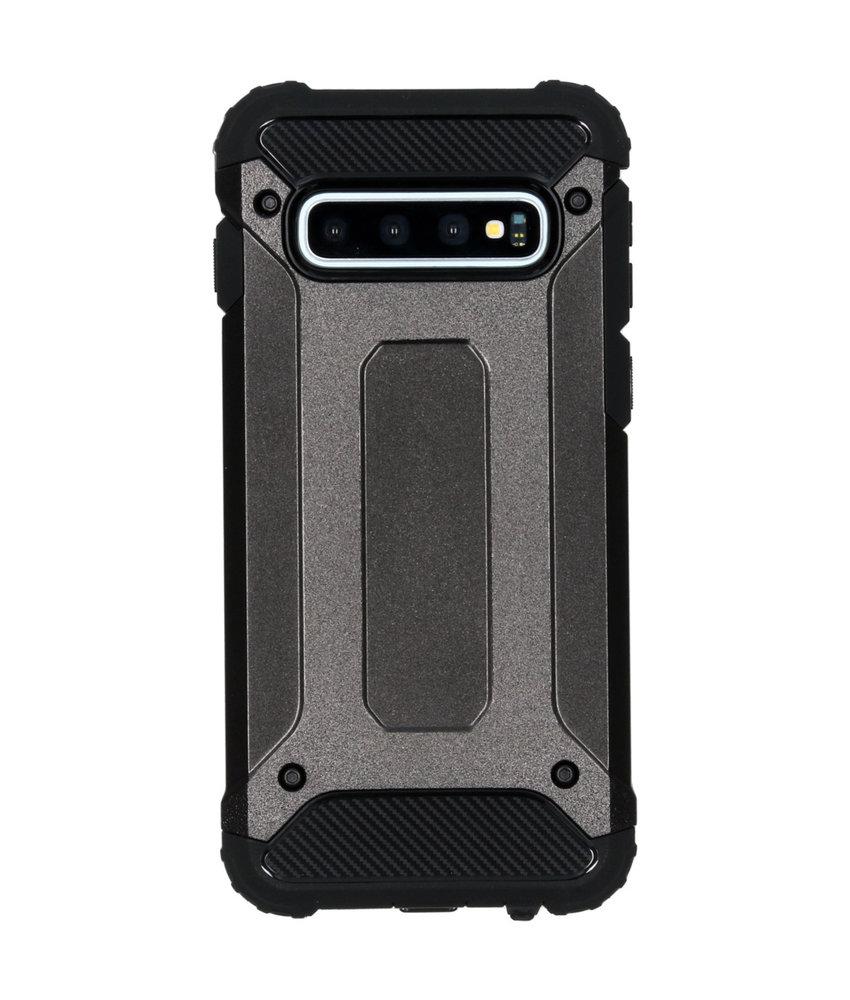 iMoshion Rugged Xtreme Backcover Samsung Galaxy S10 - Zwart