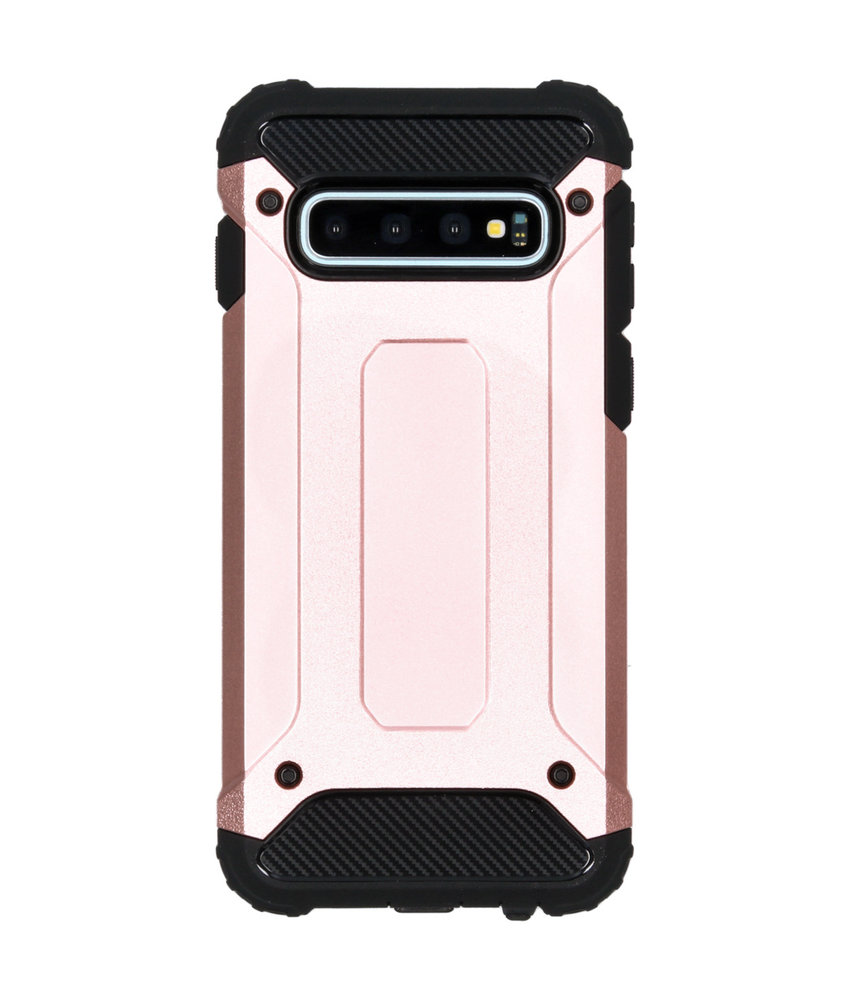 iMoshion Rugged Xtreme Backcover Samsung Galaxy S10 - Rosé Goud