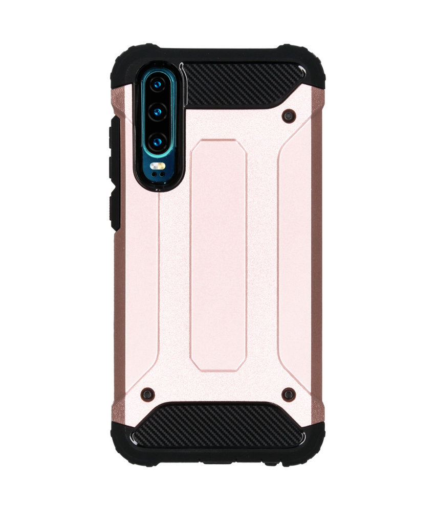 iMoshion Rugged Xtreme Backcover Huawei P30 - Rosé Goud