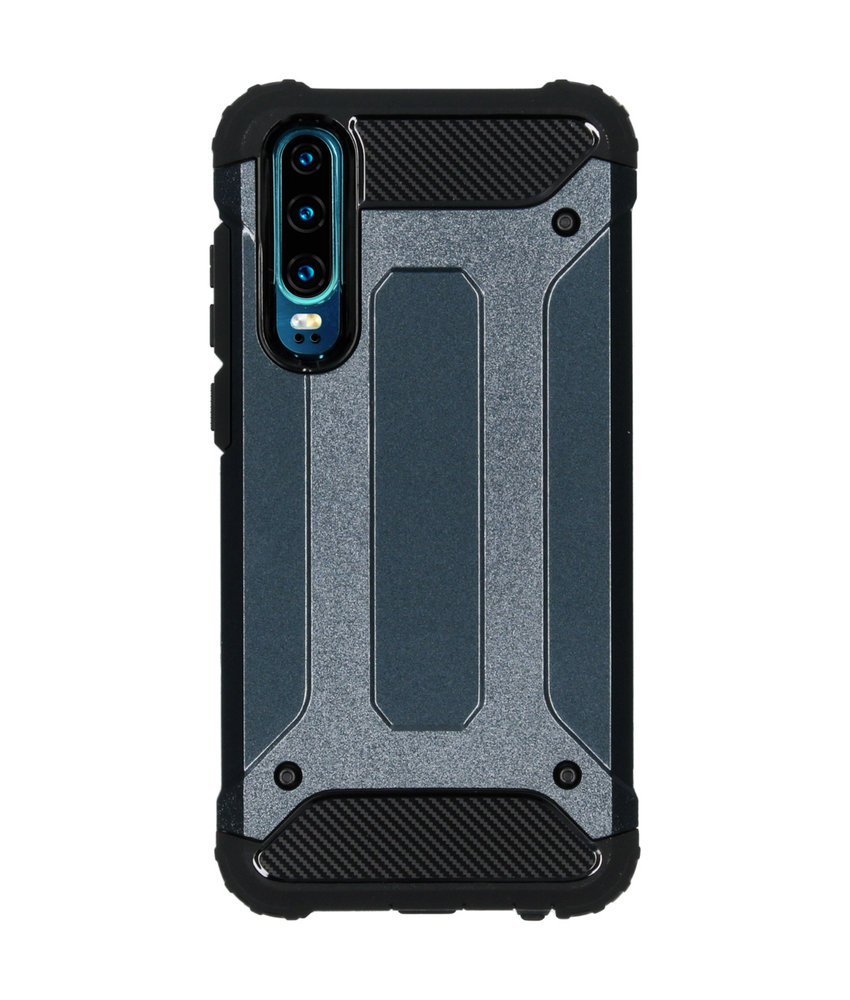 iMoshion Rugged Xtreme Backcover Huawei P30 - Donkerblauw