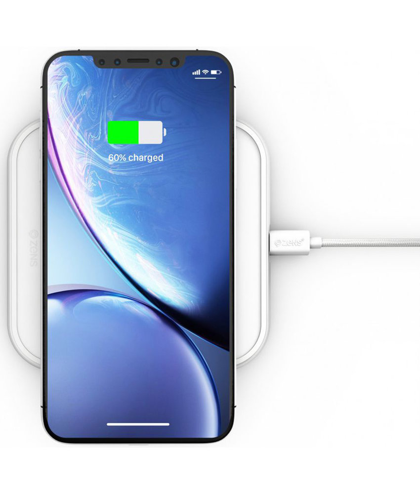 Zens Single Aluminium Wireless Charger 10W - Wit