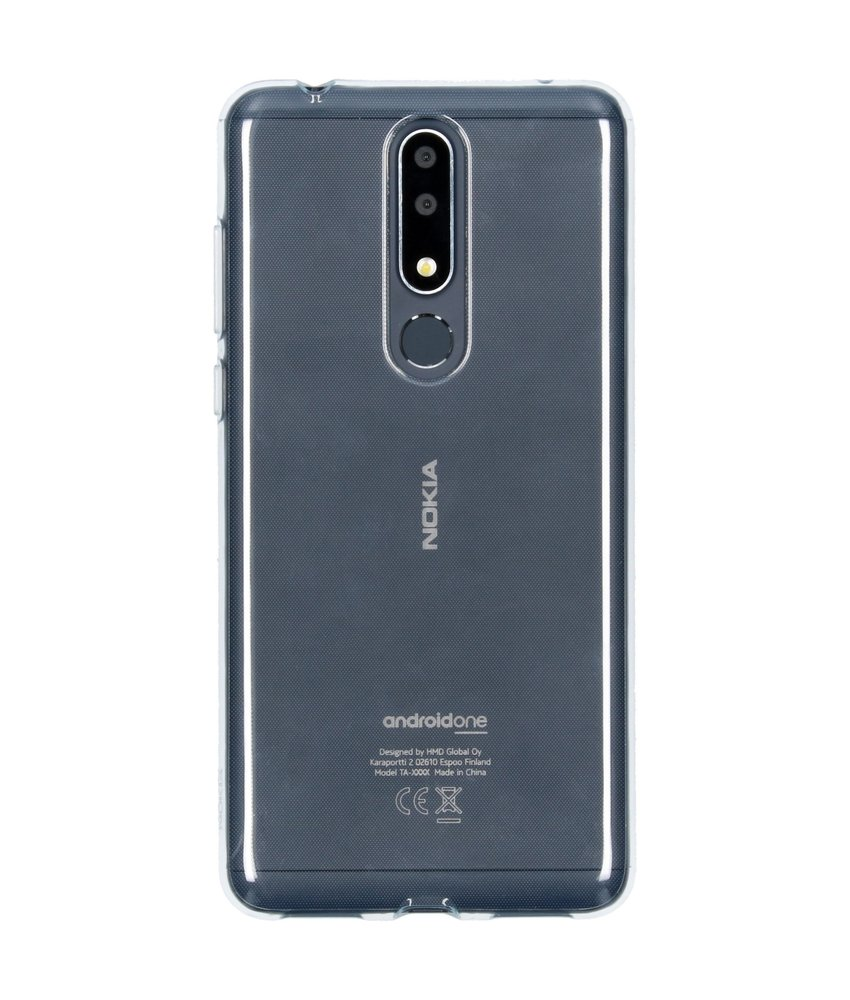 Nokia Clear Backcover Nokia 3.1 Plus - Transparant