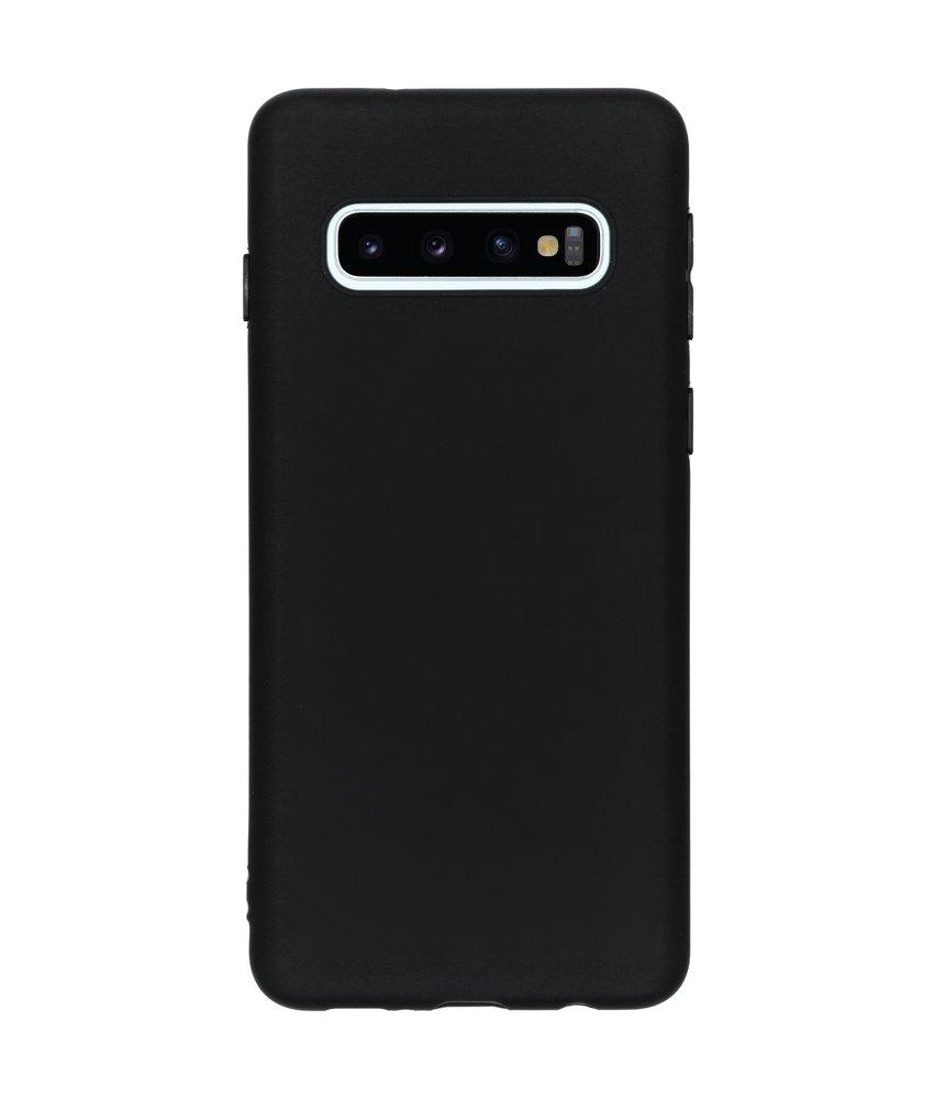 iMoshion Color Backcover Samsung Galaxy S10 - Zwart