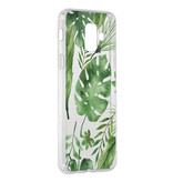 Accezz Design Siliconen Backcover voor de Samsung Galaxy A6 (2018) - Monstera Leafs