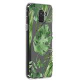 Accezz Design Siliconen Backcover voor de Samsung Galaxy J6 - Monstera Leafs