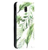 Accezz Design Siliconen Booktype voor de Samsung Galaxy J5 (2017) - Monstera Leafs