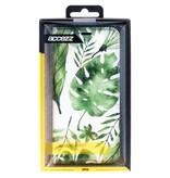 Accezz Design Siliconen Booktype voor de iPhone 5 / 5s / SE - Monstera Leafs