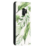 Accezz Design Siliconen Booktype voor de Samsung Galaxy S9 - Monstera Leafs
