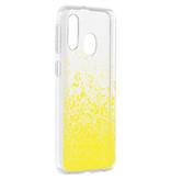 Design Backcover voor de Samsung Galaxy A40 - Splatter Yellow