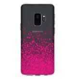Design Backcover voor de Samsung Galaxy S9 - Splatter Pink