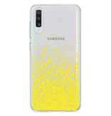 Design Backcover voor de Samsung Galaxy A70 - Splatter Yellow