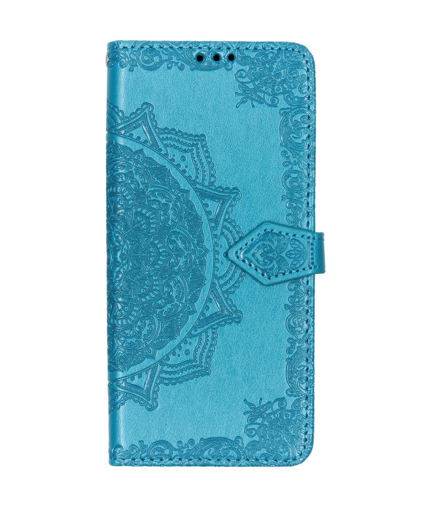 Mandala Booktype Motorola One Vision - Turquoise