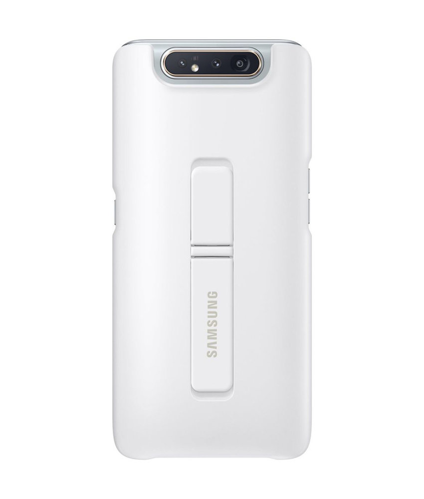 Samsung Standing Backcover Samsung Galaxy A80 - Wit