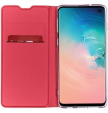 Luxe Stand Booktype voor Samsung Galaxy S10 - Rood