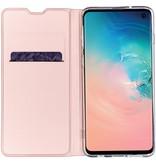 Luxe Stand Booktype voor Samsung Galaxy S10 - Rosé Goud