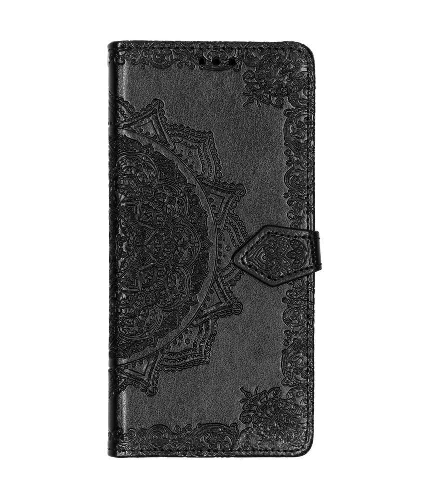Mandala Booktype LG Q60 - Zwart