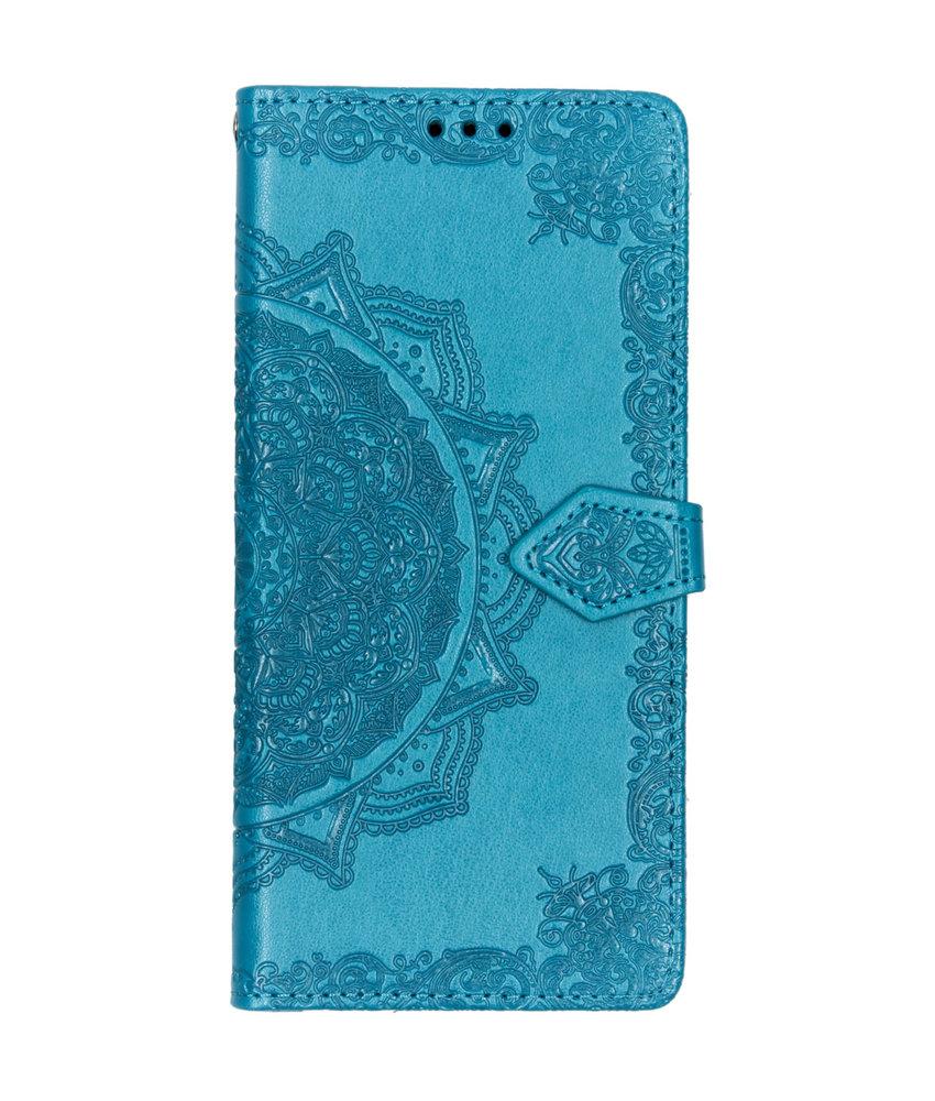Mandala Booktype LG Q60 - Turquoise