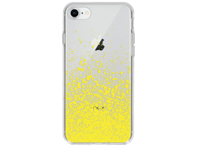 Design Backcover voor de iPhone 8 / 7 - Splatter Yellow