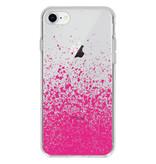 Design Backcover voor de iPhone 8 / 7 - Splatter Pink