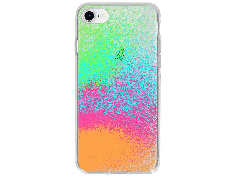 Design Backcover voor de iPhone 8 / 7 - Splatter Color