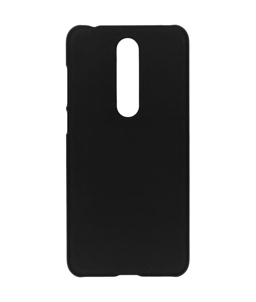 Effen Backcover Nokia 5.1 Plus - Zwart