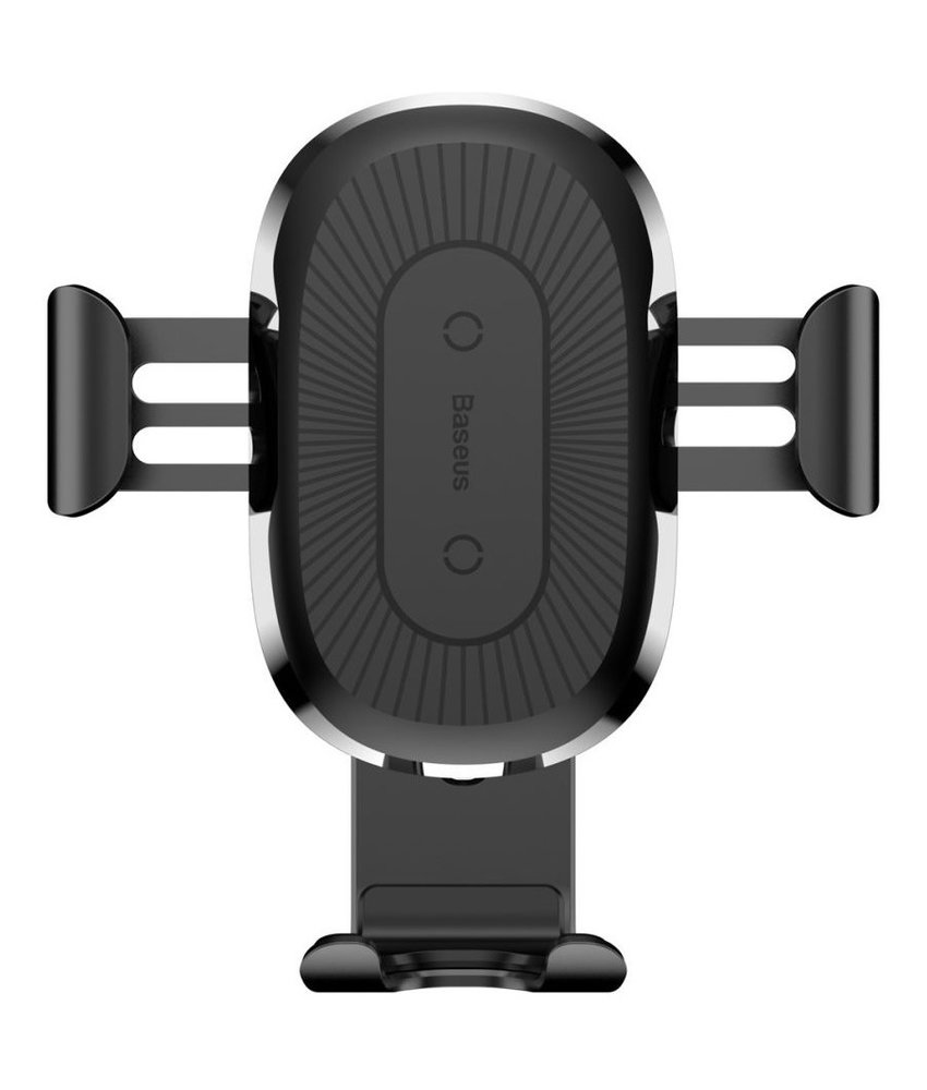 Baseus Wireless Car Charger Gravity Car Mount - Zwart