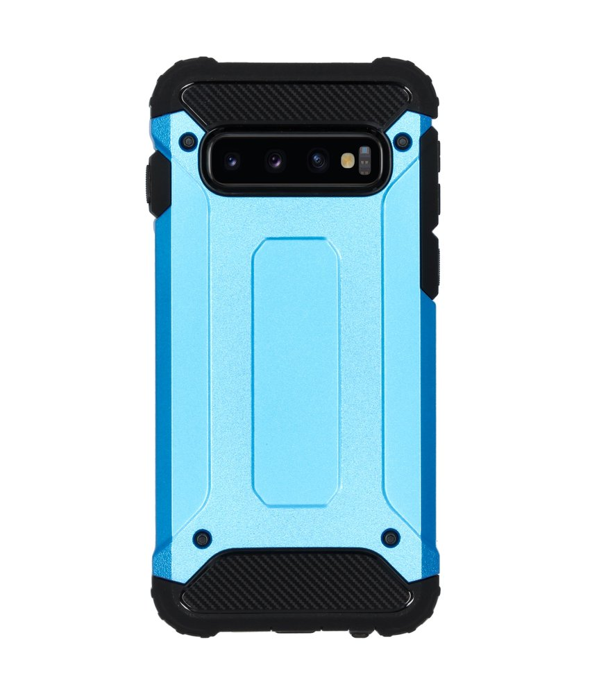 iMoshion Rugged Xtreme Backcover Samsung Galaxy S10 - Lichtblauw