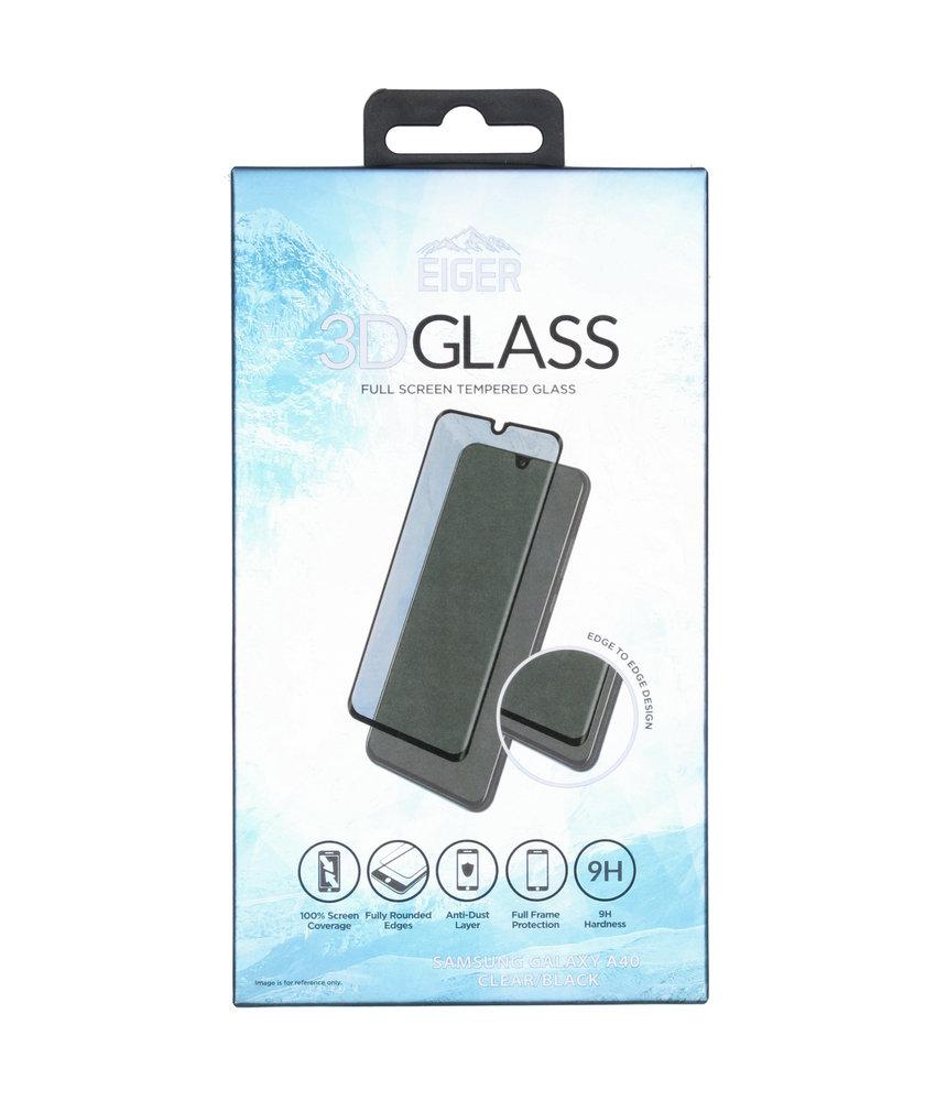 Eiger Tempered Glass Screenprotector Samsung Galaxy A40 - Zwart