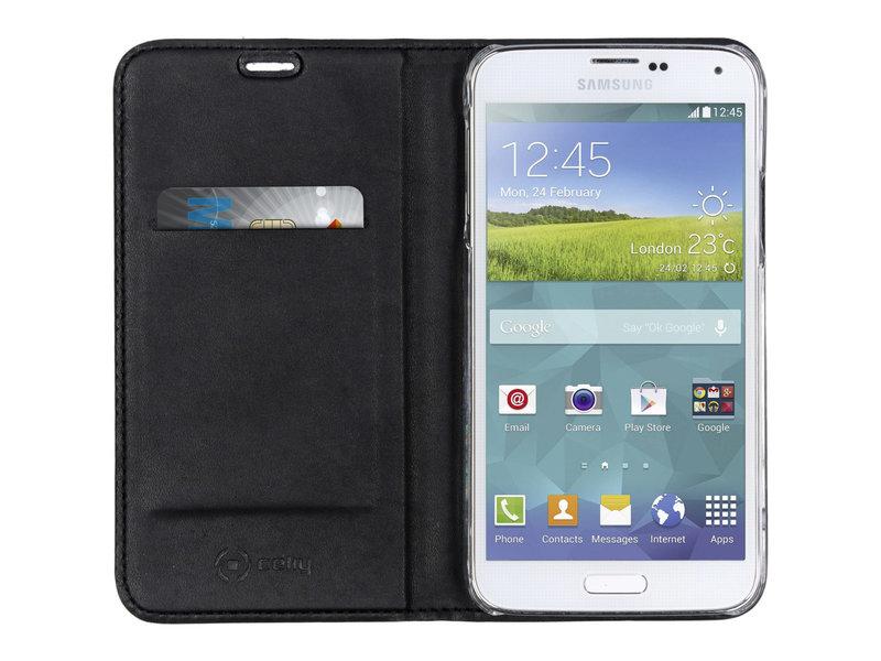 Celly Air Case voor de Samsung Galaxy S5 (Plus) / Neo - Zwart