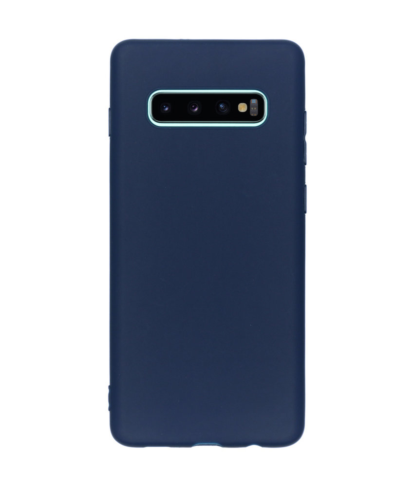 iMoshion Color Backcover Samsung Galaxy S10 Plus - Donkerblauw