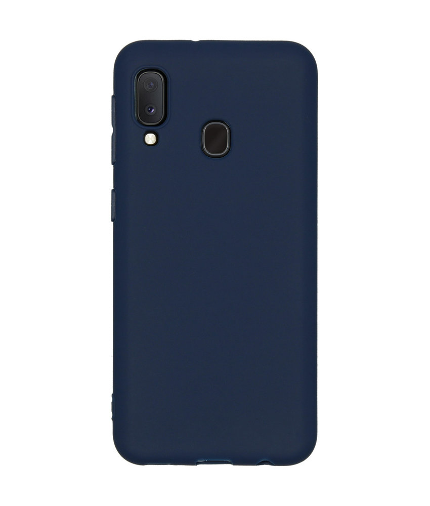 Color Backcover Samsung Galaxy A20e - Donkerblauw