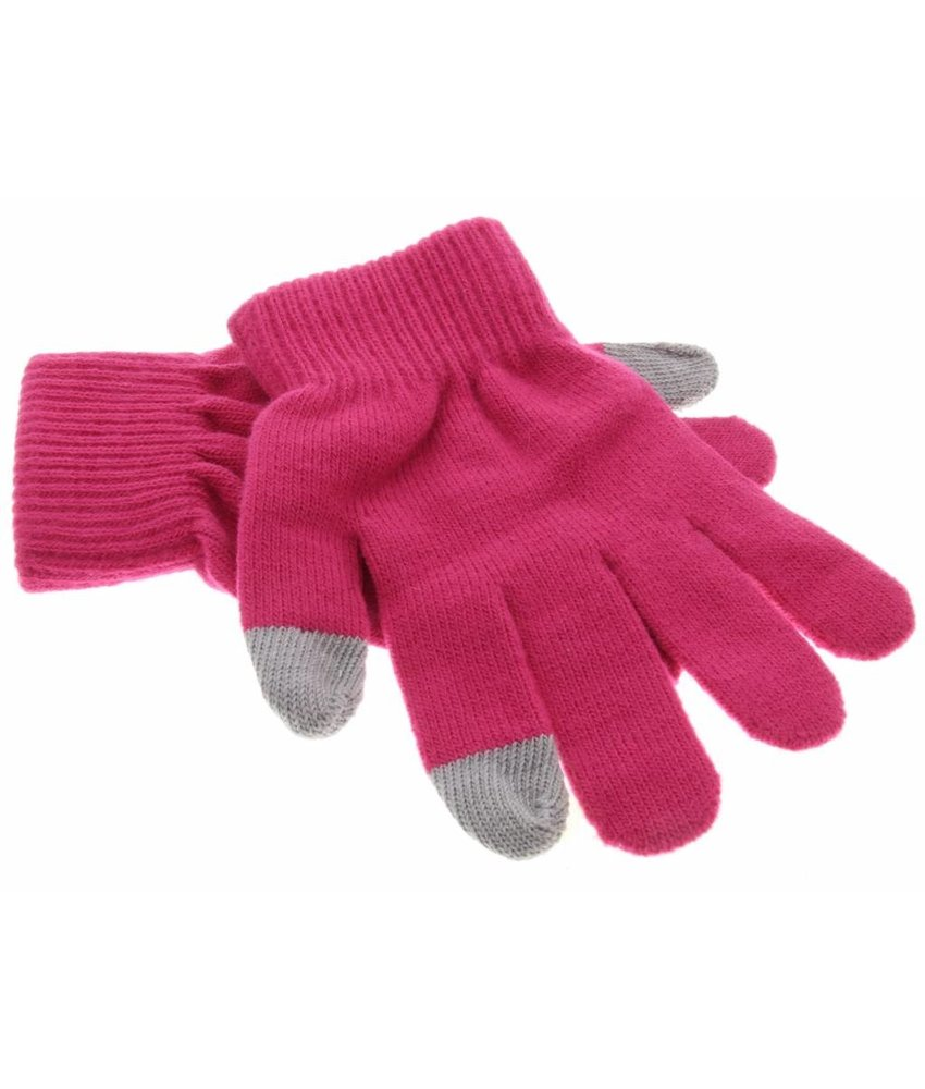 iMoshion Fuchsia effen touchscreen handschoenen