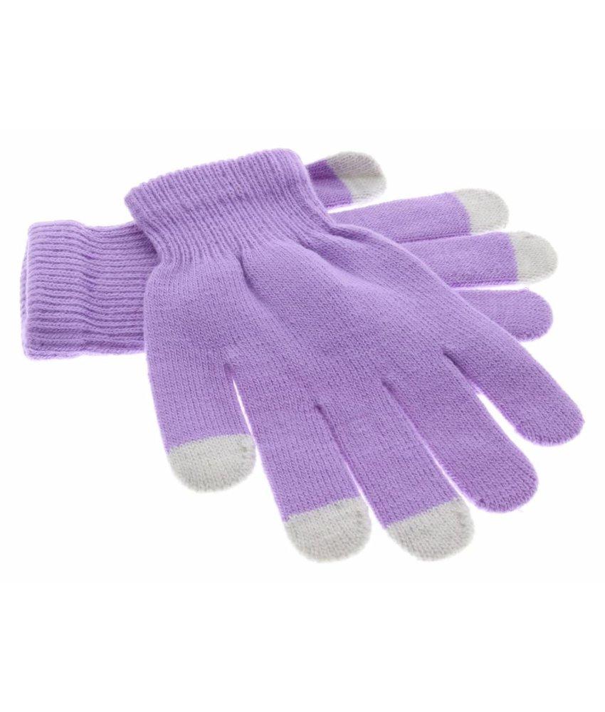 iMoshion Paars effen touchscreen handschoenen