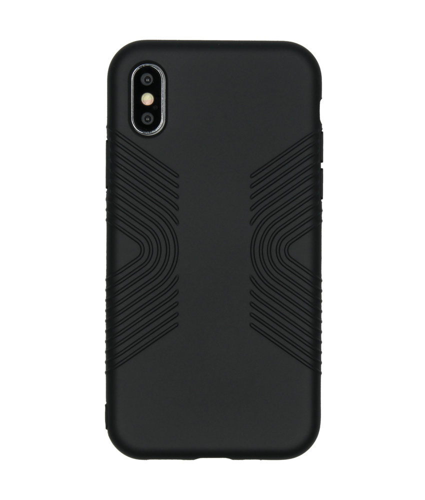 Accezz Impact Grip Backcover iPhone X / Xs - Zwart